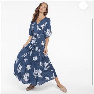 Gillia Amare floral backless wrap dress